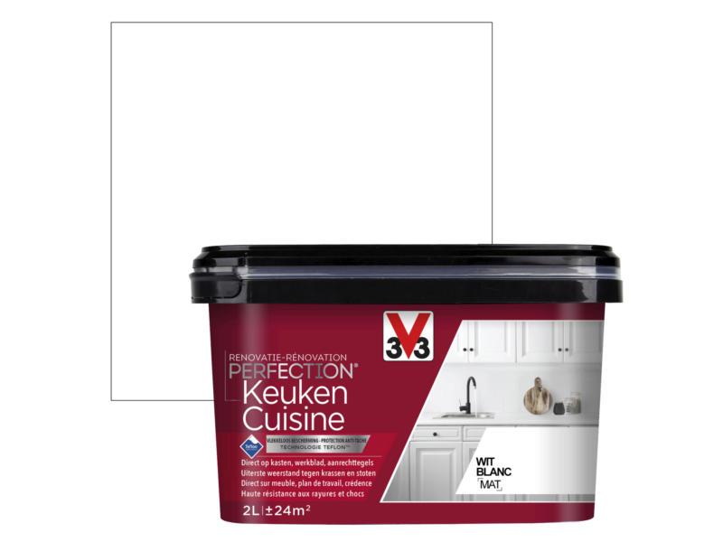 V33 Perfection peinture rénovation cuisine mat 2l blanc
