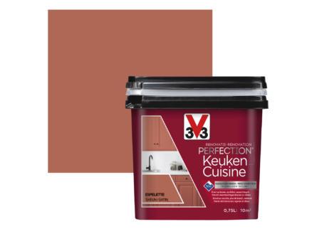 V33 Perfection peinture rénovation cuisine satin 0,75l espelette