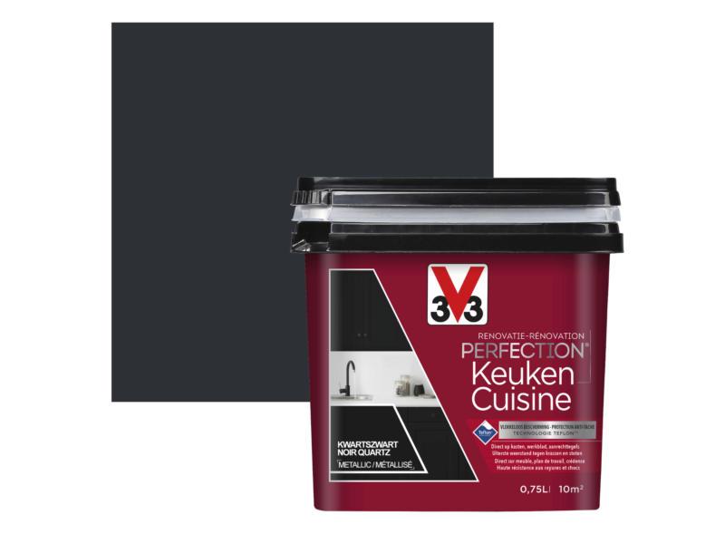 V33 Perfection peinture rénovation cuisine satin 0,75l noir quartz