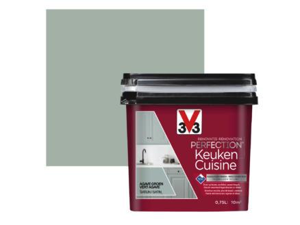 V33 Perfection peinture rénovation cuisine satin 0,75l vert agave