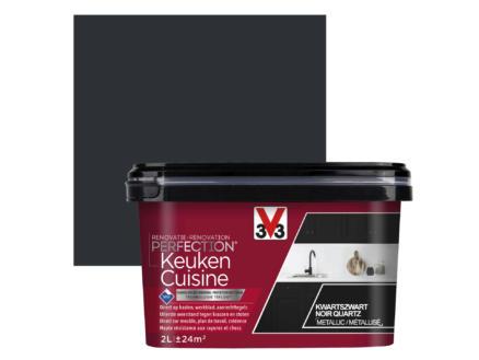 V33 Perfection peinture rénovation cuisine satin 2l noir quartz