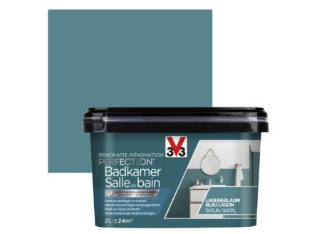V33 Perfection peinture rénovation salle de bains satin 2l bleu lagon