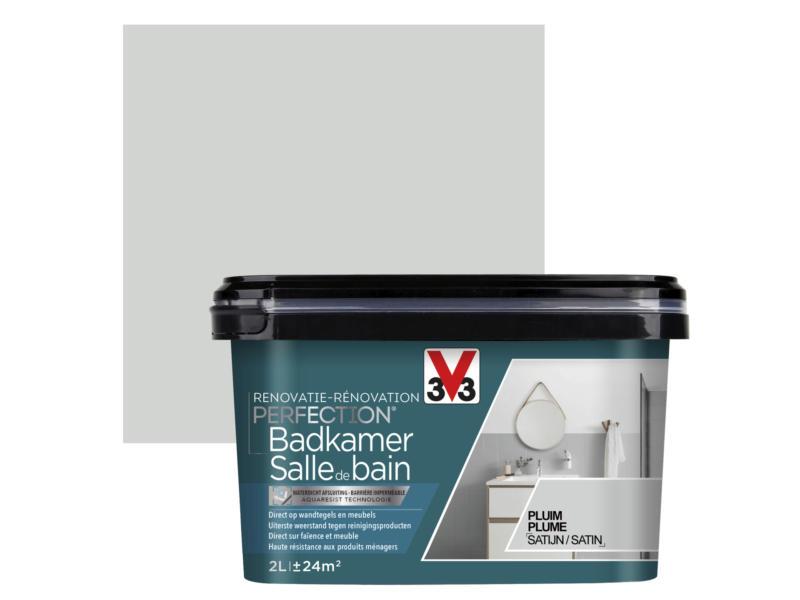 V33 Perfection peinture rénovation salle de bains satin 2l plume