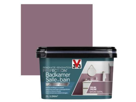 V33 Perfection peinture rénovation salle de bains satin 2l prune