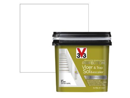 V33 Perfection peinture rénovation sol & escalier satin 0,75l blanc