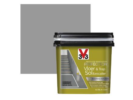 V33 Perfection peinture rénovation sol & escalier satin 0,75l carbonate