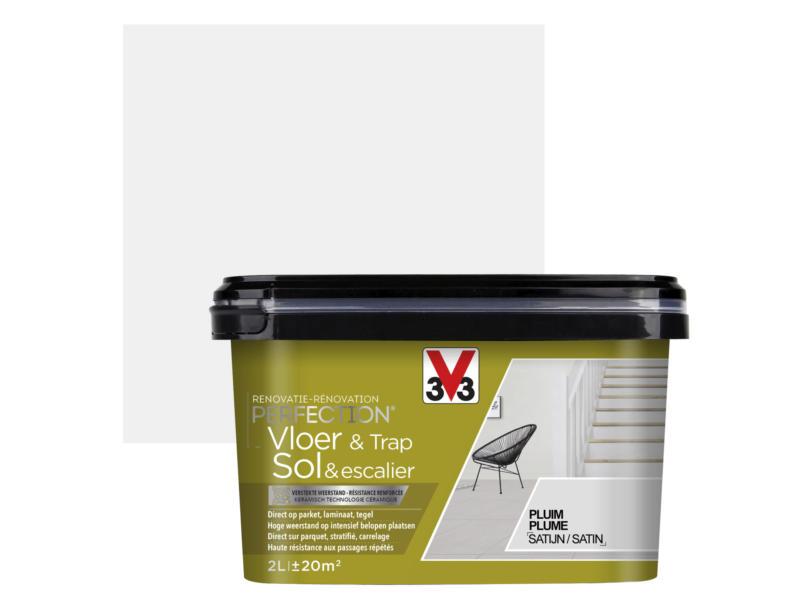 V33 Perfection peinture rénovation sol & escalier satin 2l plume