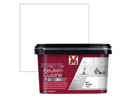 V33 Perfection renovatieverf keuken mat 2l wit