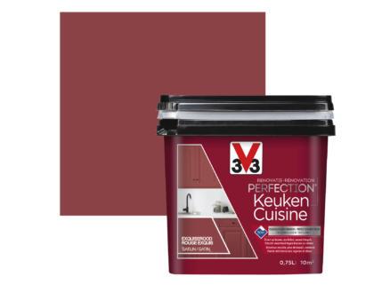 V33 Perfection renovatieverf keuken zijdeglans 0,75l exquiserood