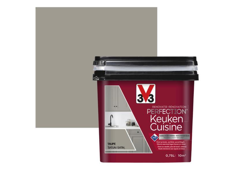 V33 Perfection renovatieverf keuken zijdeglans 0,75l taupe