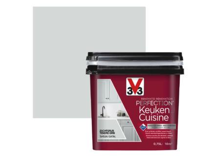 V33 Perfection renovatieverf keuken zijdeglans 0,75l zachtgrijs