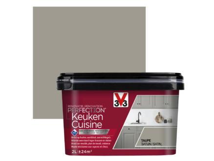 V33 Perfection renovatieverf keuken zijdeglans 2l taupe
