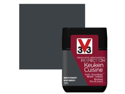 V33 Perfection testeur peinture rénovation cuisine mat 75ml noir smoky