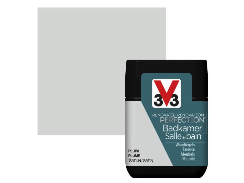 V33 Perfection testeur peinture salle de bains satin 75ml plume