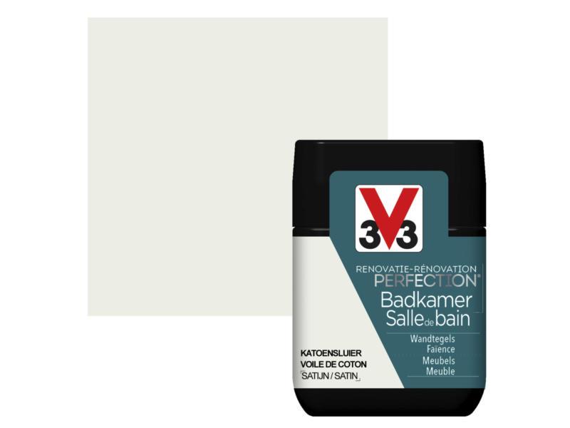 V33 Perfection testeur peinture salle de bains satin 75ml voile de coton