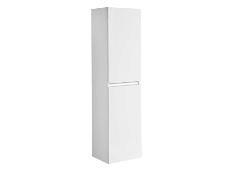 Allibert Pesaro kolomkast 40cm 2 deuren glanzend wit