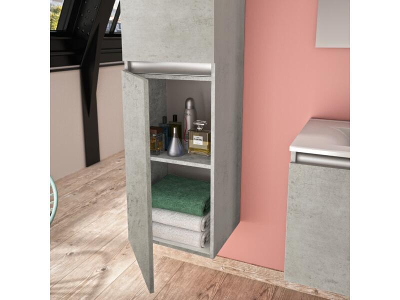Allibert Pesaro kolomkast 40cm 2 deuren licht beton