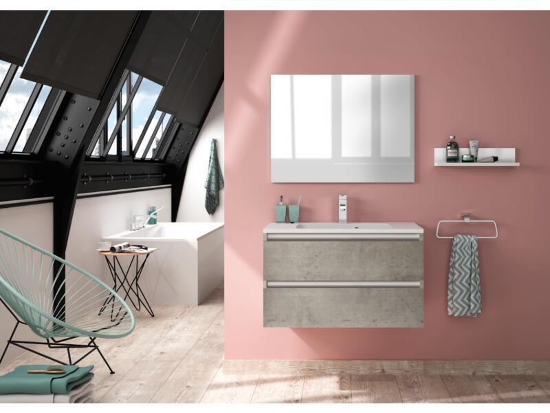 Allibert Pesaro meuble lavabo 80cm 2 tiroirs béton clair