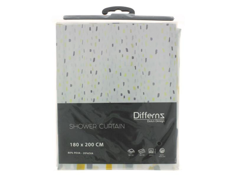 Differnz Peva Stripes douchegordijn 180x200 cm multi