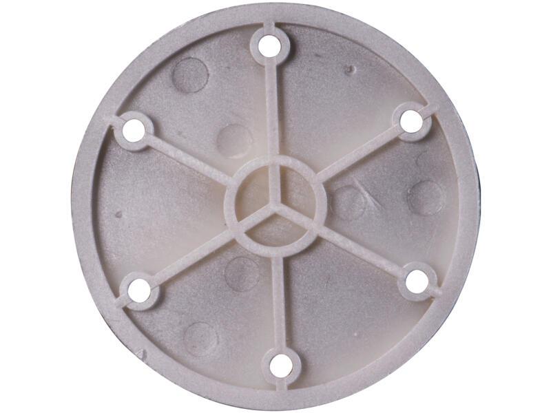 Pied de meuble conique rond 20-45mm 12,5cm matière synthétique aluminium