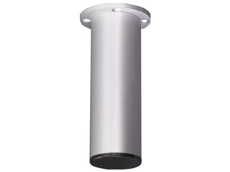 Pied de meuble egal rond 38mm 11cm aluminium