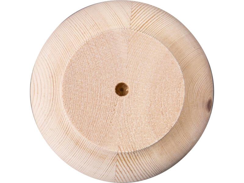 Pied de meuble rond 104mm 80mm pin