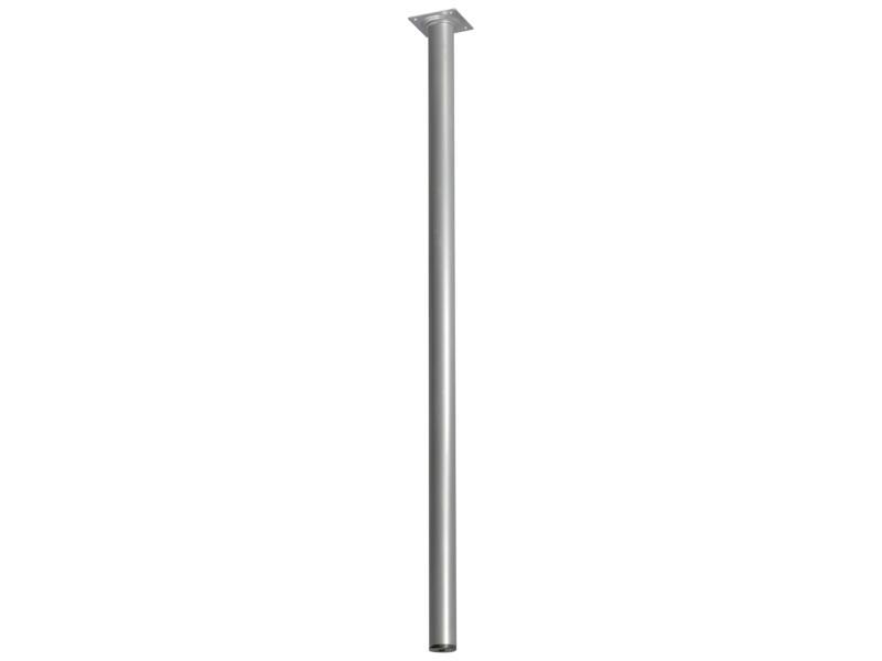 Pied de meuble rond 30mm 75cm aluminium