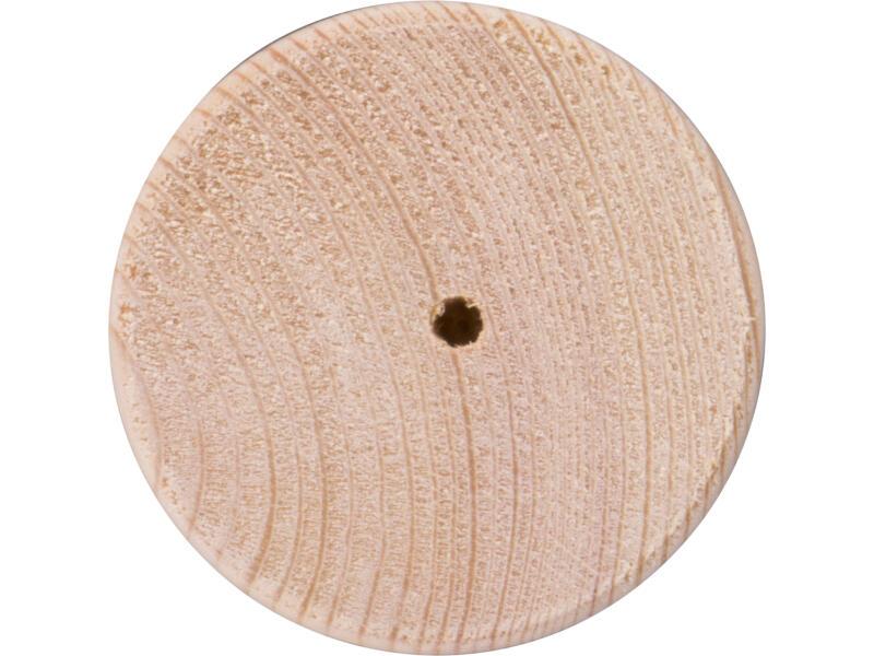 Pied de meuble rond 70mm 80mm pin