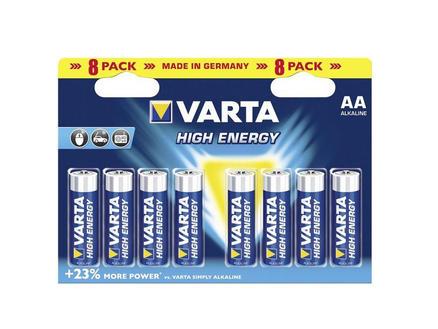 Varta Pile High Energy AA 1,5V 8 pièces