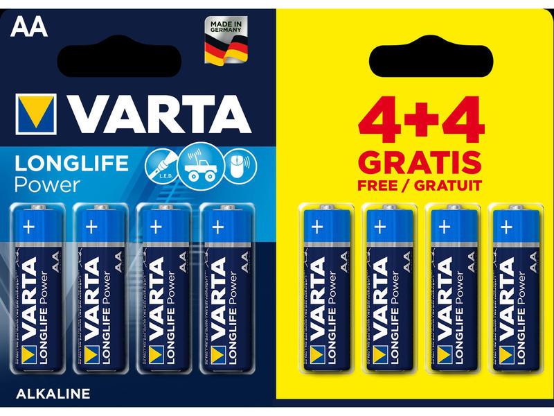 Varta Pile High Energy AA 4+4 gratuit