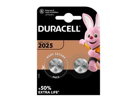 Duracell Pile bouton DL2025 lithium 3V 2 pièces