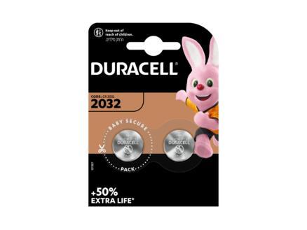 Duracell Pile bouton DL2032 lithium 3V 2 pièces