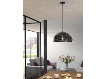 MEO Pizzo hanglamp E27 40W zwart/goud