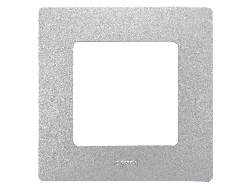 Legrand Plaque Niloé simple aluminium