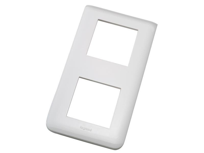 Legrand Plaque de recouvrement double 2 modules verticale blanc