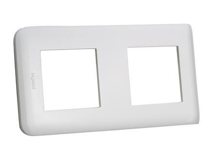 Legrand Plaque de recouvrement double horizontale Mosaic blanc
