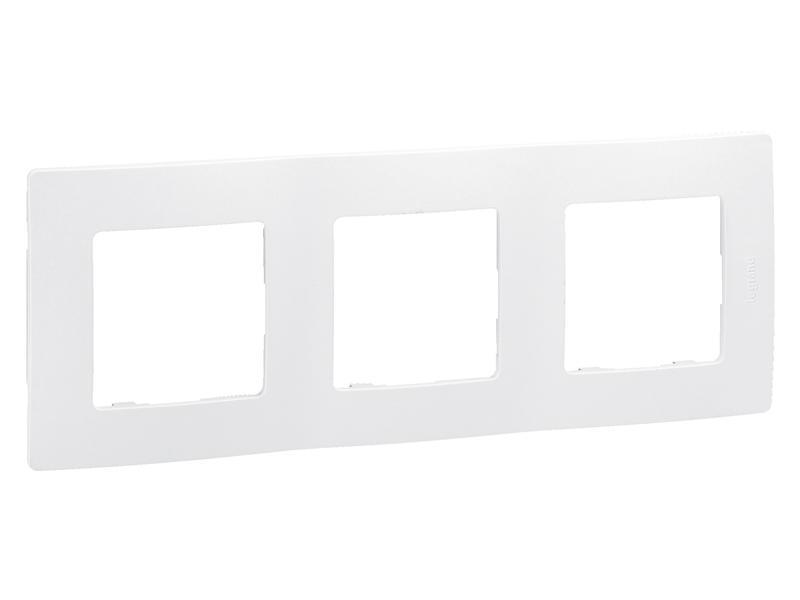 Legrand Plaque de recouvrement triple verticale/horizontale Niloé blanc