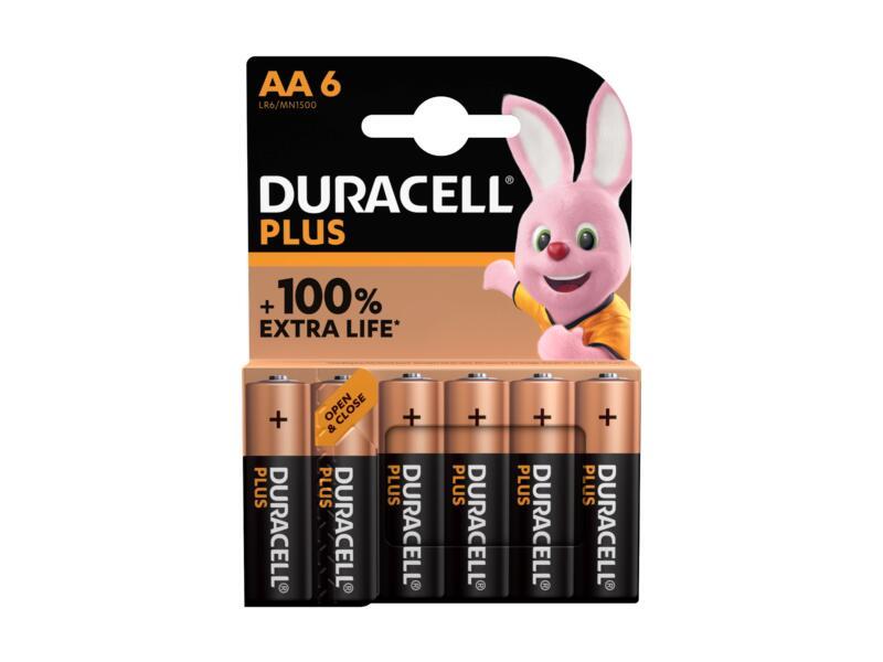 Plus batterij alkaline AA 6 stuks