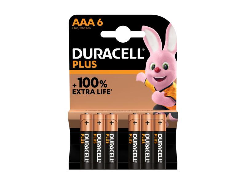 Duracell Plus batterij alkaline AAA 6 stuks