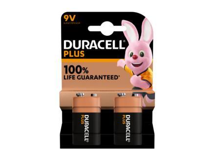 Duracell Plus pile alcaline 9V 2 pièces