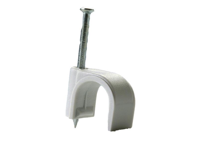 Pontet pour câble 12mm gris 50 pièces