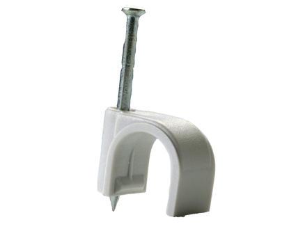 Pontet pour câble 14mm gris 10 pièces