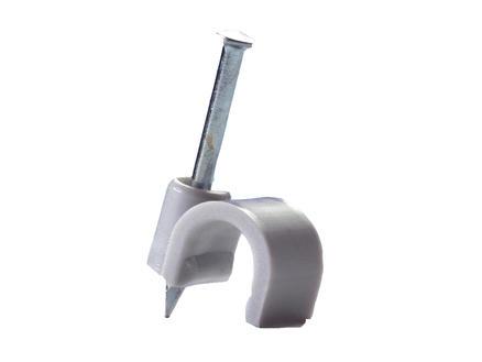 Pontet pour câble 7mm gris 50 pièces