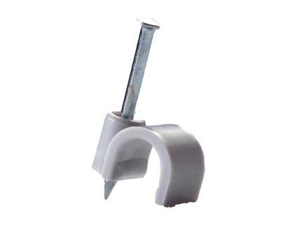 Pontet pour câble 8mm gris 50 pièces