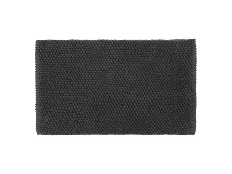 Differnz Popcorn badmat 80x50 cm zwart