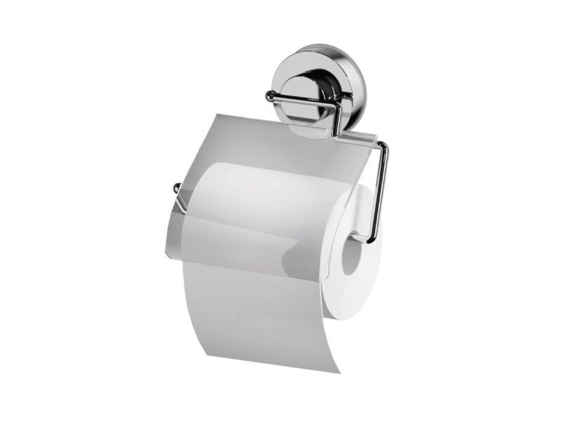 Porte-papier toilette avec couvercle transparent