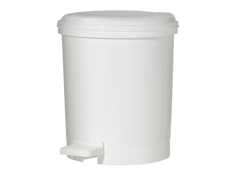 Sealskin Poubelle à pédale Elementals Basic 3l matière synthétique blanc