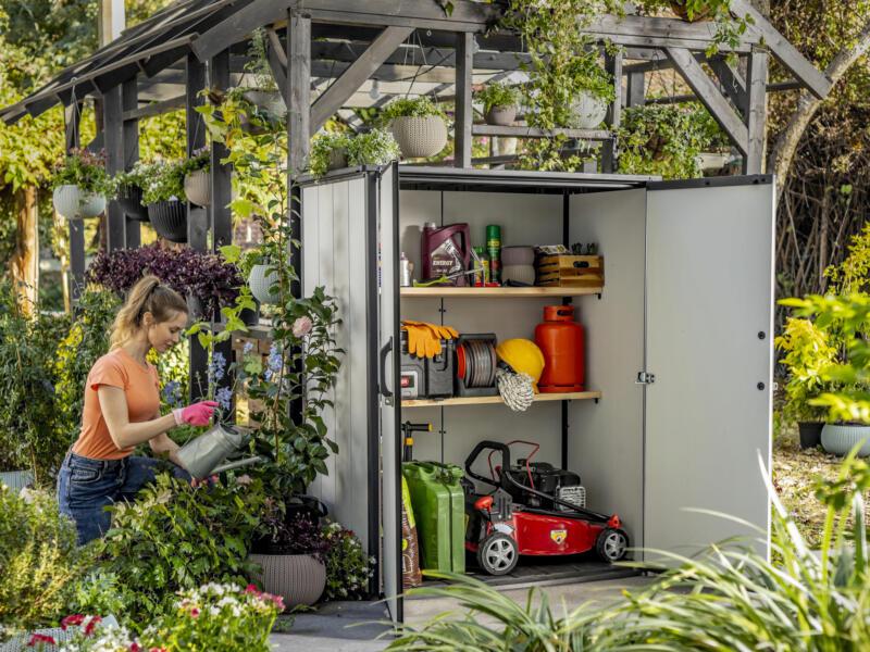 Keter Premier Tall armoire de jardin 140x73x170,4 cm gris