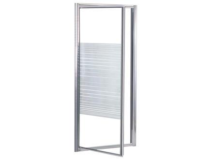 Lafiness Primero porte de douche pivotante 80x185 cm aluminium sérigraphie horizontale