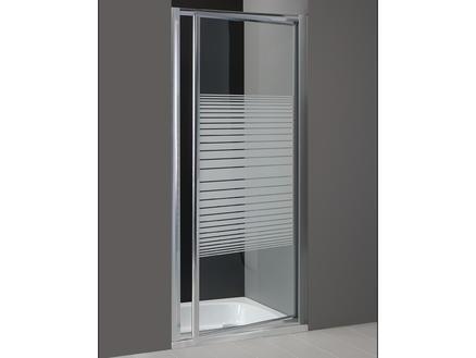 Lafiness Primero porte de douche pivotante 90x185 cm sérigraphie horizontale
